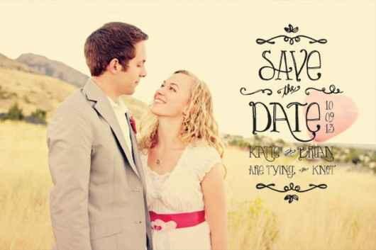 """Idée 2 """"Save the date"""""""