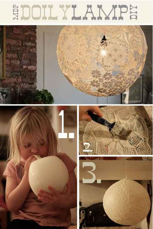 Créer Lampion en dentelle