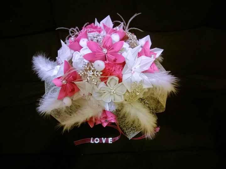 Bouquet d'hiver origami