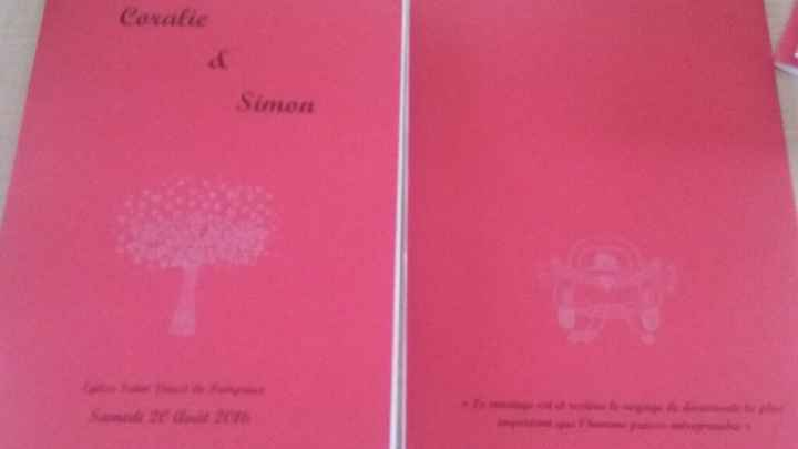 Création de livret de messe et livre d'or - 2