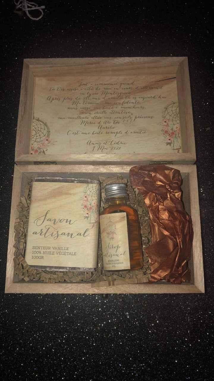 Boîte cadeaux témoins et demoiselles d'honneurs - 2