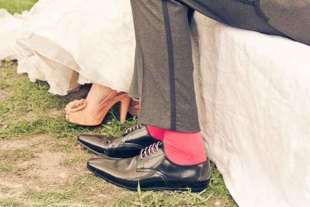 J'adore les chaussures de la mariée
