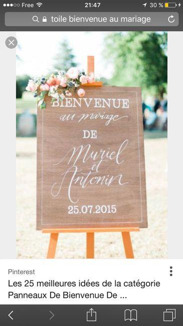 Berühmt Panneau bienvenue au mariage - Décoration - Forum Mariages.net QG78