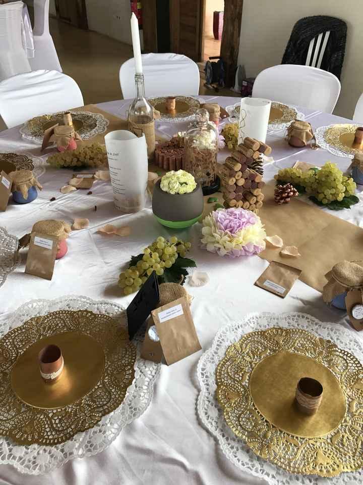 Decoration de table ronde champetre, bohème - 2