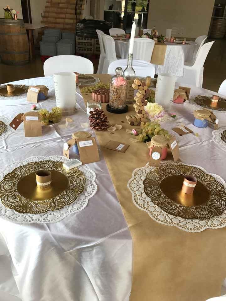 Decoration de table ronde champetre, bohème - 3