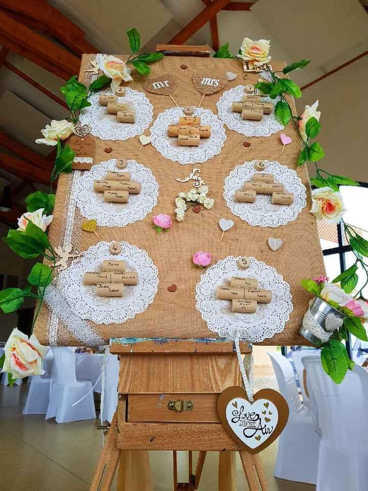Decoration de table ronde champetre, bohème - 4
