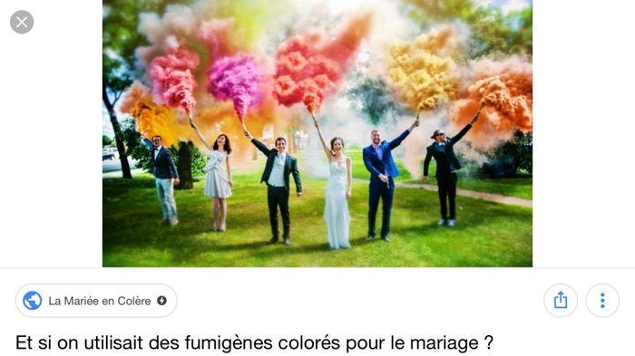 Fumigènes colorés ! 1