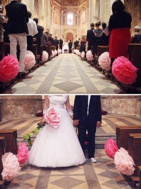 Cherche des id es de d coration d 39 glise sans fleurs for Decoration fausse porte mariage
