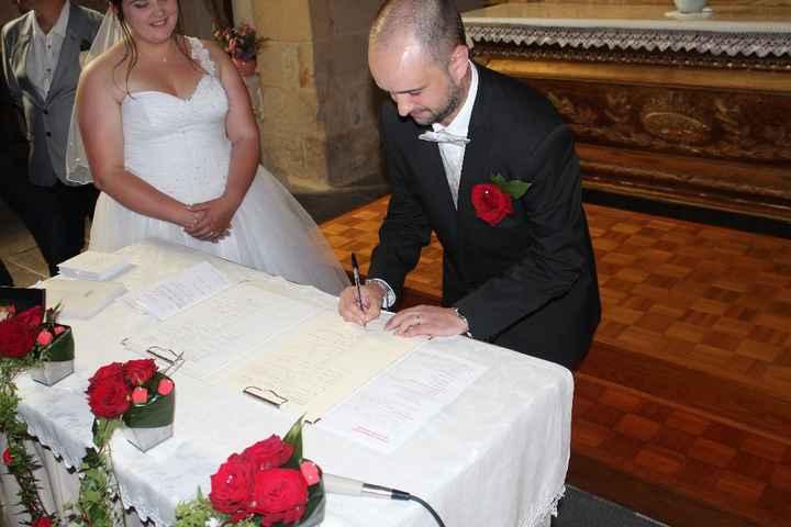 signature à l'église