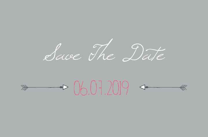 Voici nos save the date - 1