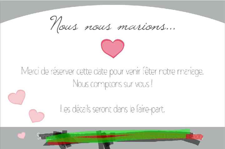 Voici nos save the date - 2