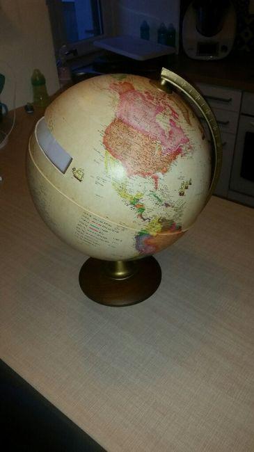 Urne globe terrestre - 1er achat 1