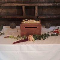La table de l'urne (le voyage de noces sera au Japon du coup on a customisé une caisse de vin en jar