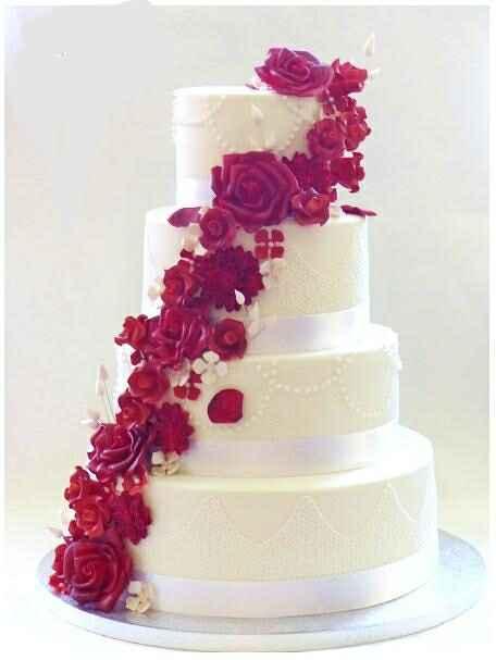 Le wedding cake : Blanc, nude ou coloré ? - 1