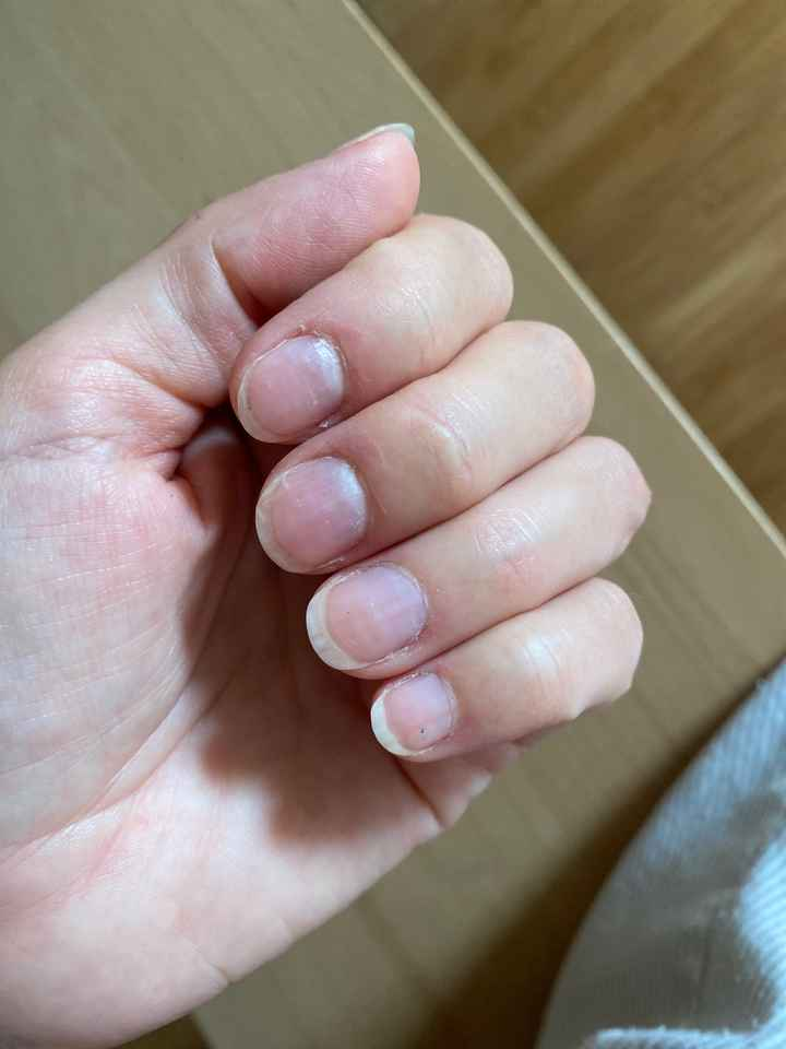 Ongle mariage pour ongles courts! - 1
