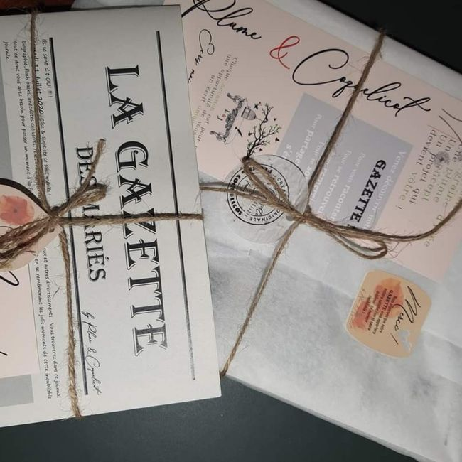 Gazette de mariés avis plume et coquelicots 1