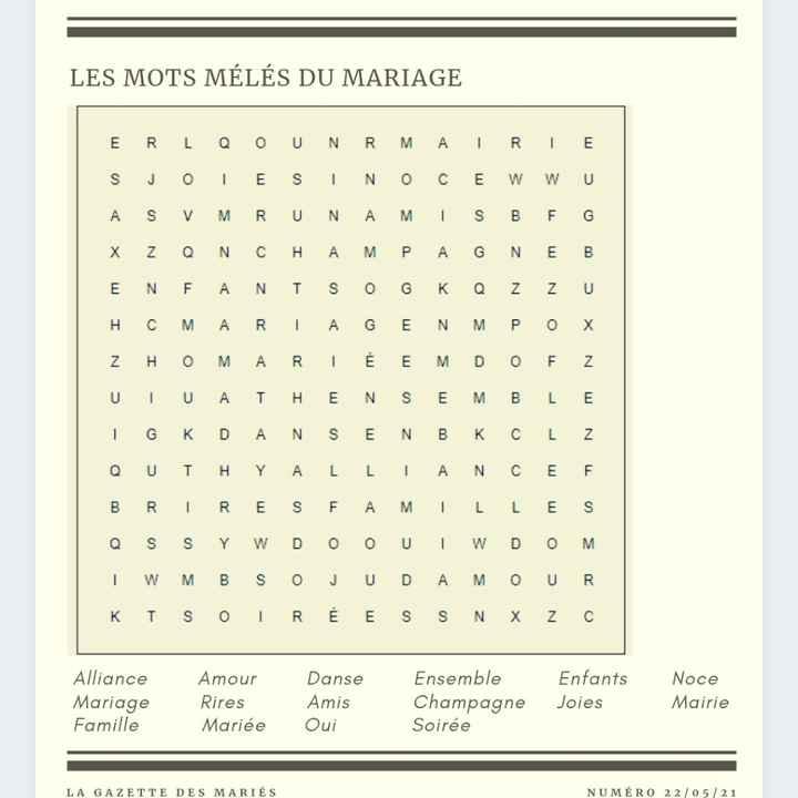 Trop contente j'ai terminé ma gazette de mariage - 3