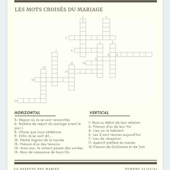 Trop contente j'ai terminé ma gazette de mariage - 4