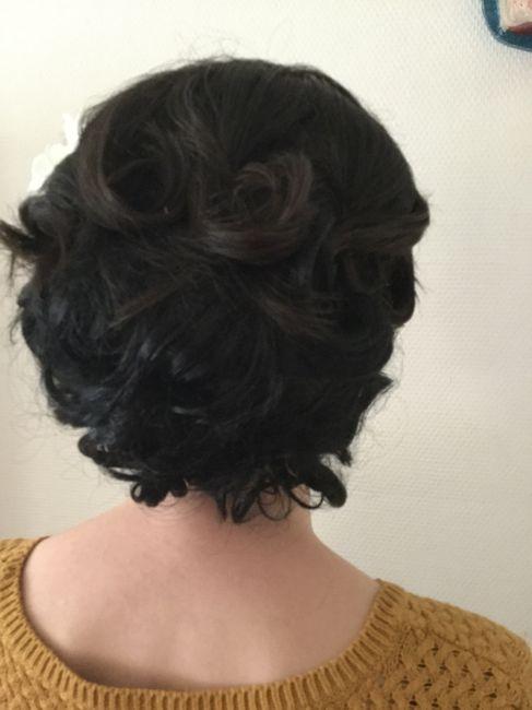 Coiffure mariée sur cheveux noir - 1