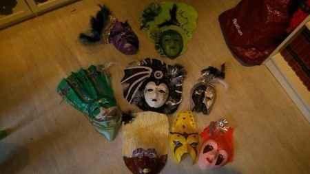 Exemple de masques que l'ont fait en papier mâché