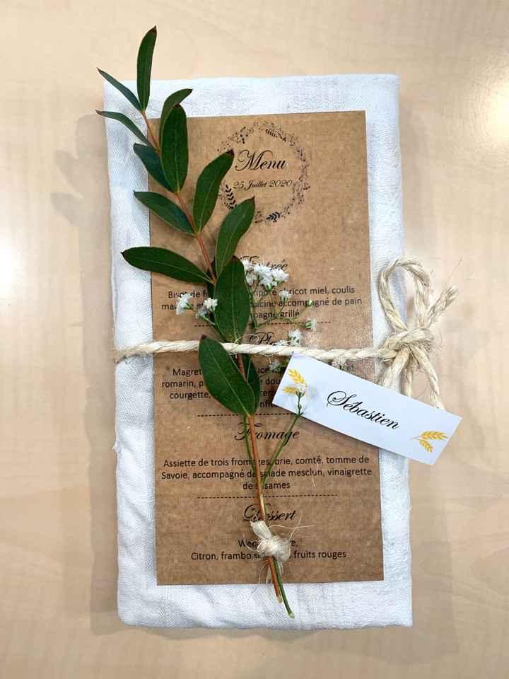 Test menu de mariage avec fleurs - 1