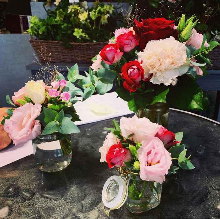 Essai floral centre de table - 2