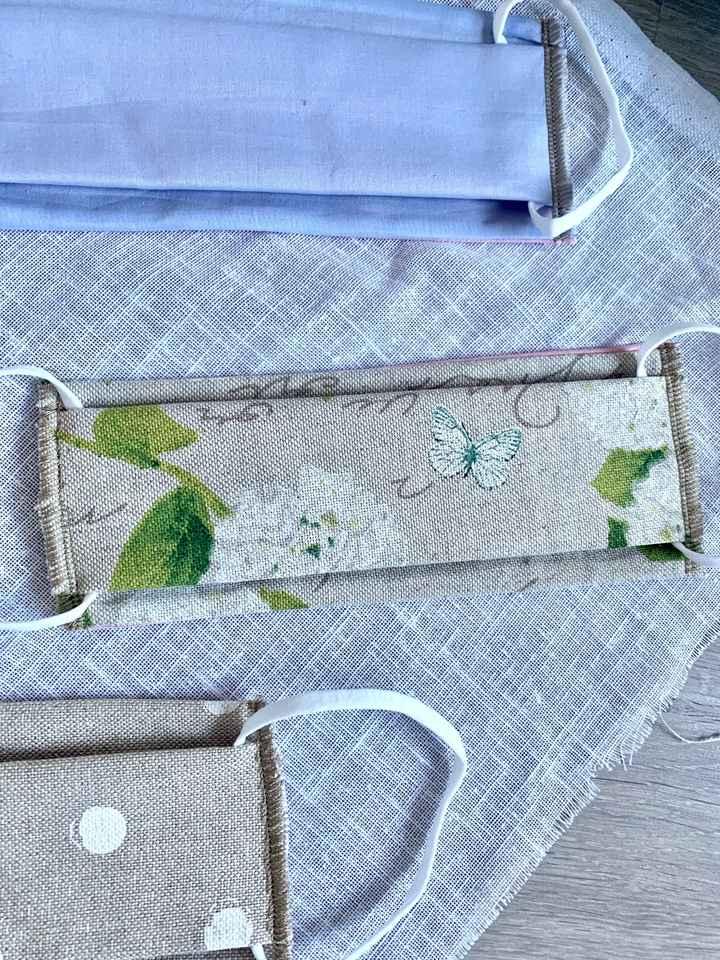 Masques tissus sur le thème champêtre chic - 5