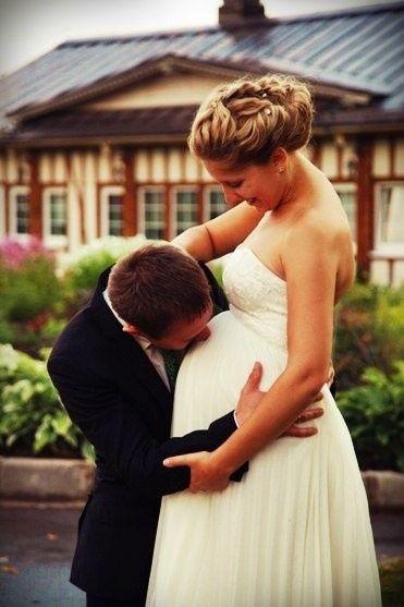 Mariée enceinte : photos 1