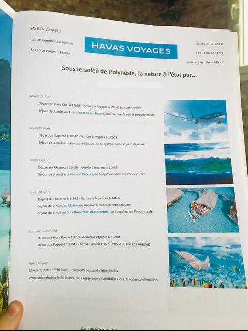 Devis agence de voyage Polynésie - 1