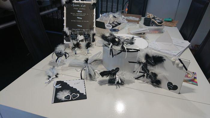 Decoration mariage noir et blanc 1