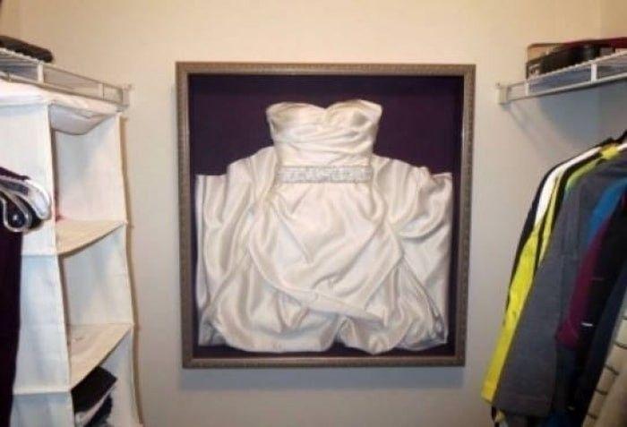robe de mariée en cadre
