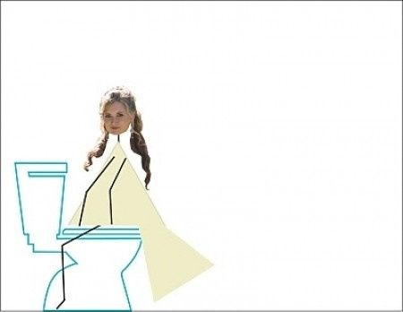 Mode d'emploi pour faire pipi avec votre robe de mariée