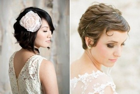 Photo coiffure mariee cheveux courts