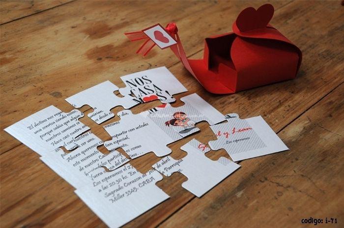 un faire-part de mariage puzzle   oui ou non   - avant le mariage