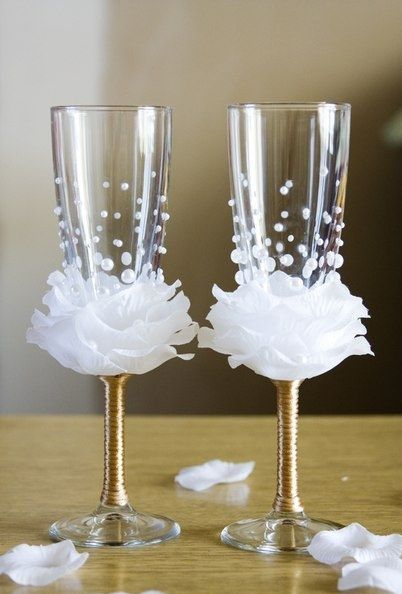 Une magnifique d coration de coupe champagne maison - Une coupe de champagne ...