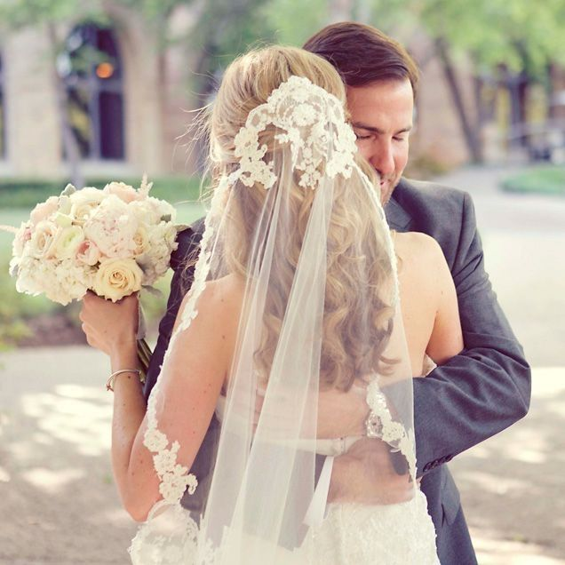 Coiffure mariage voile pour cheveux longs
