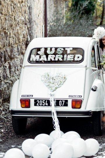 comment décorer une 2cv pour un mariage
