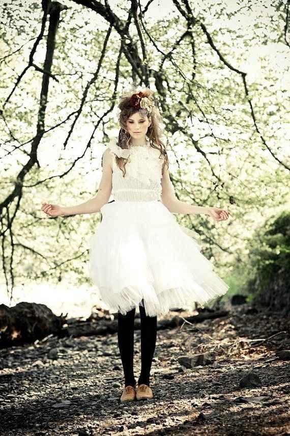 Look mariée jupe tutu