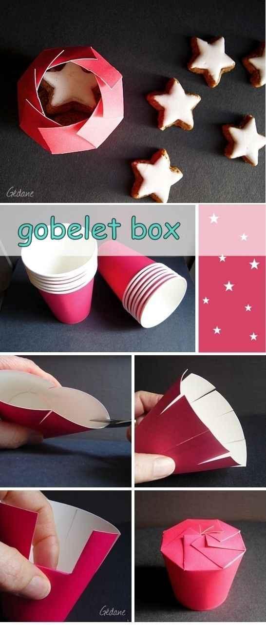Tutoriel: transformez un gobelet en jolie boîte !