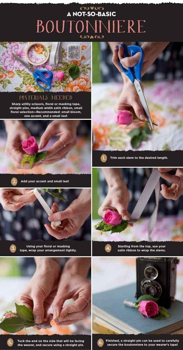 Tutoriels pour créer des boutonnières de marié