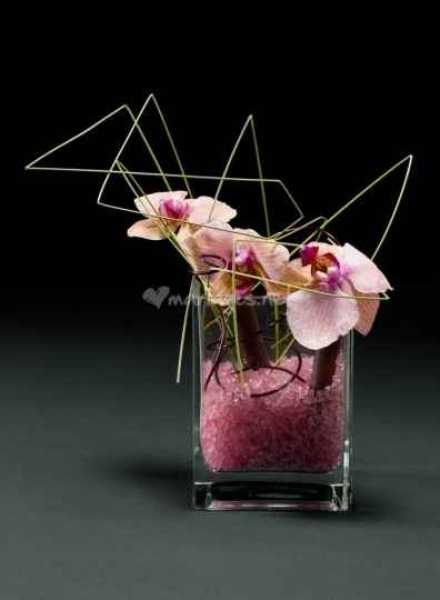 Decoration de table avec orchidees