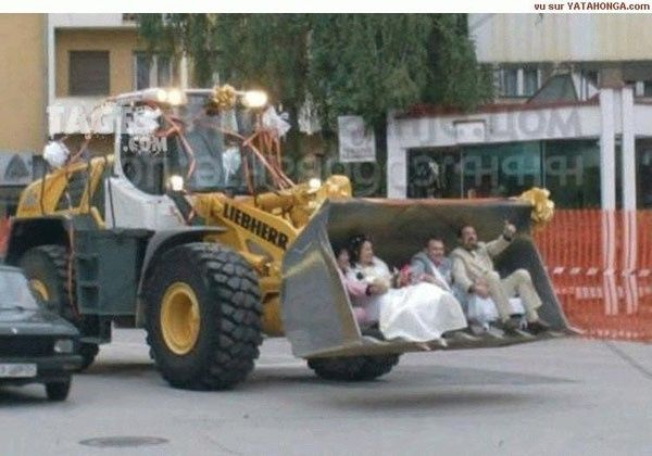 Tracteur mariage