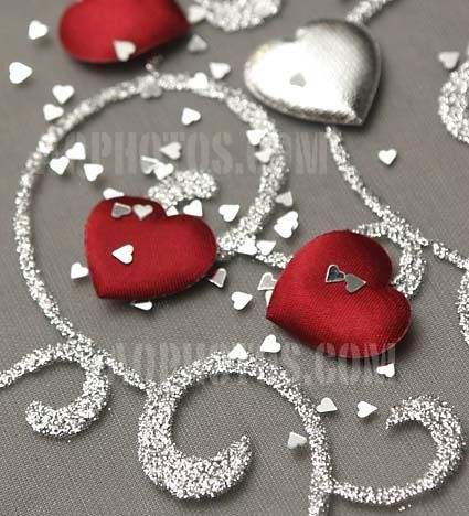 Rouge argent decoration mariage - Photo