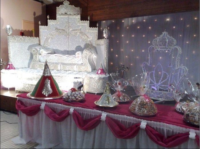 Trone et buffet mariage musulman