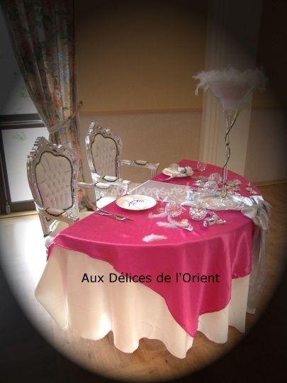 La table des mariés pour un mariage arabe