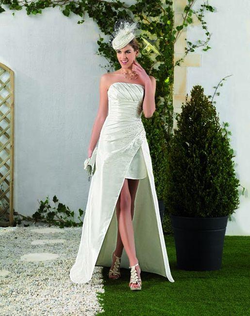 Vestidos novia cortos por delante