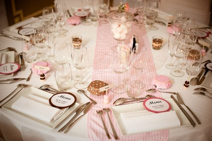 decoration table mariage rose pale