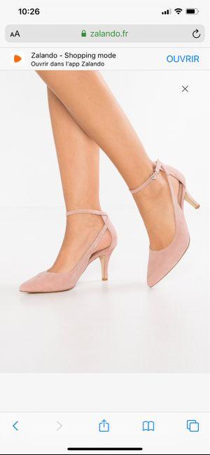 Chaussures mariée rose poudrée 1