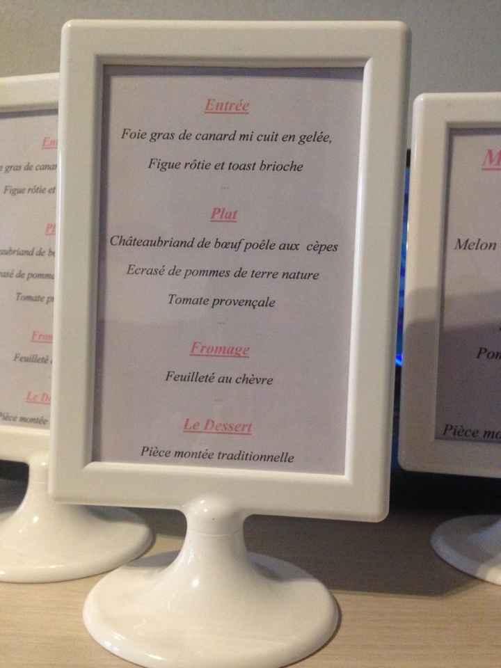 Nom de table + menu - 2