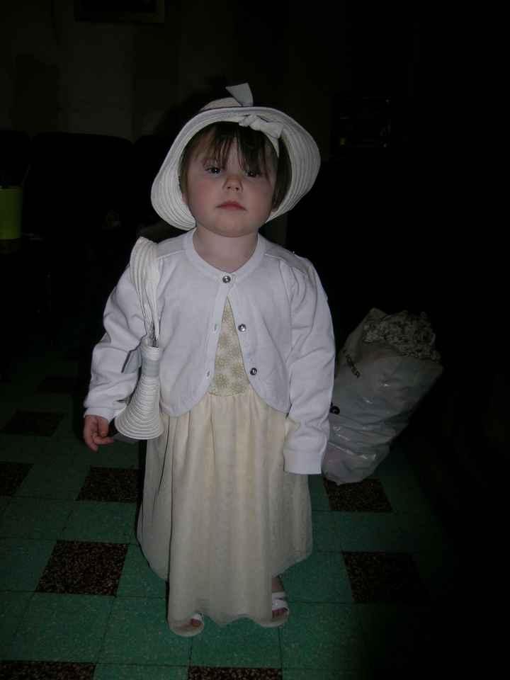 Essayage de la robe de notre fille
